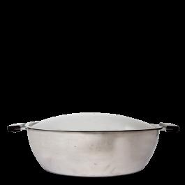 fondue cooker ss w/twin 28 cm pcs