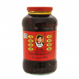 preserved black beans in chilli oil 740gr