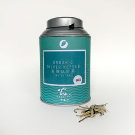 Organic jasmine silver needle blik 50gr