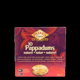 pappadums naturel 100gr
