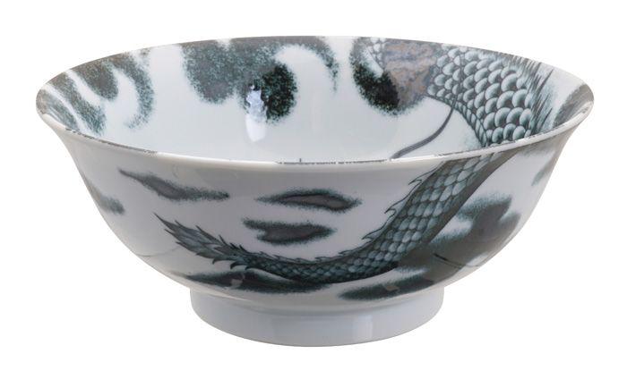 Dragon Large Ramen Bowl Black 21x8.3cm 1000ml