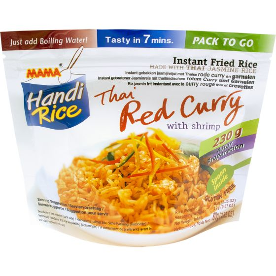 instant rice red curry shrimp 80g