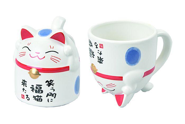 Cat Mug Blue 8.5x9.8cm 350ml