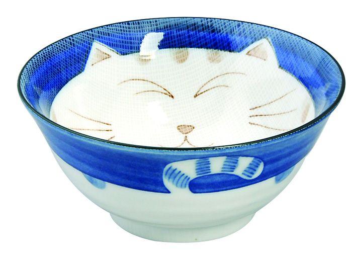 Kawaii Tayobowl Cat Blue 15x7cm 500ml