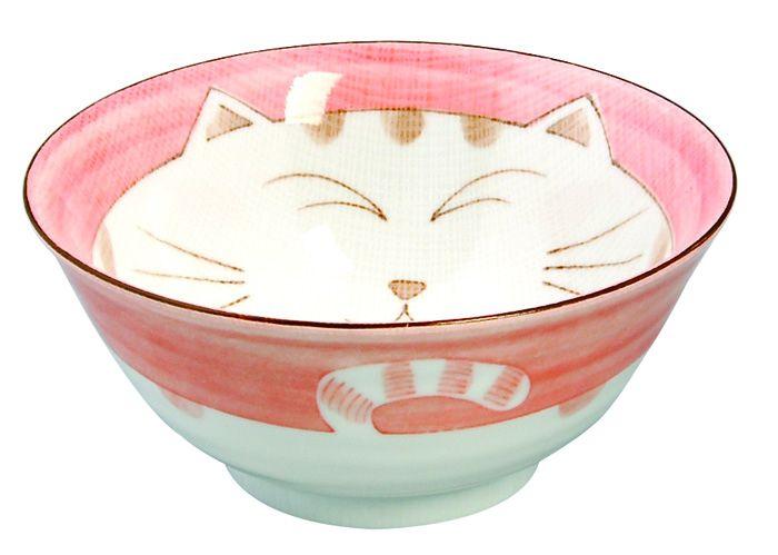 Kawaii Tayobowl Cat Pink 15x7cm 500ml
