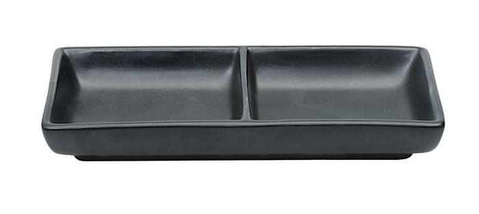 Black Matte Series Sauce Dish 2vaks 17.5x8cm