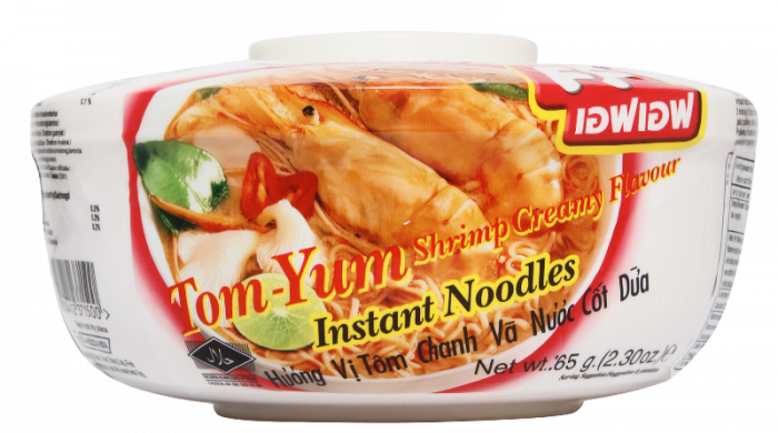 instant tom yum shrimp creamy bowl noodle 65gr