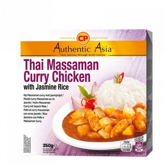 thai massaman curry chicken with jasmin rice 350gr