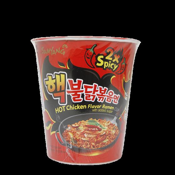 hot chicken ramen 2 spicy cup 70gr
