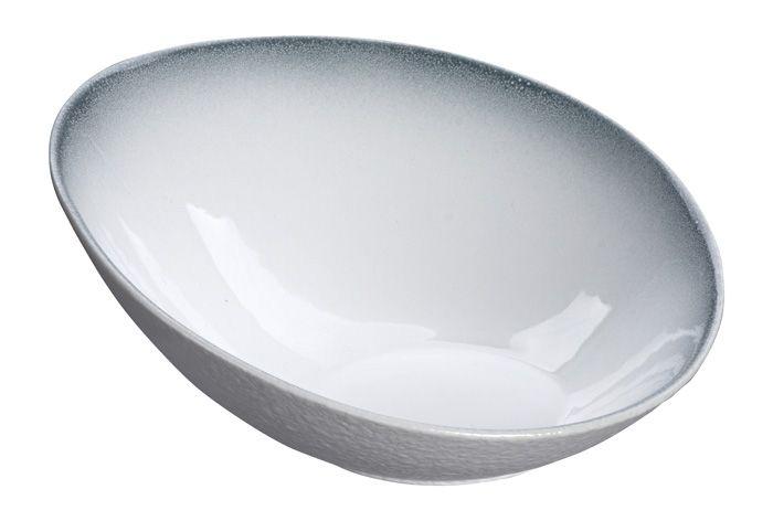 White Grey Rim Bowl 21cm