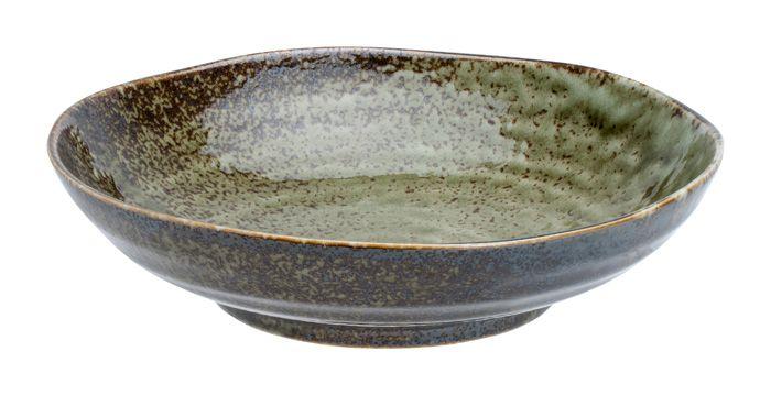 Shinryoku Green Deep Plate 21x5.2cmh