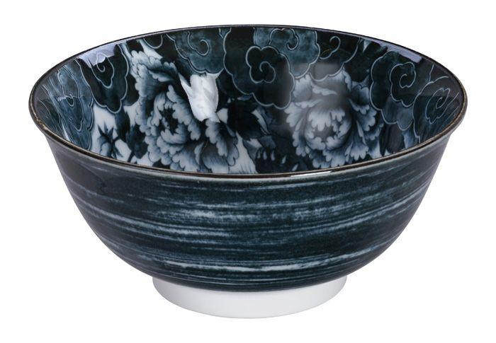 Lion Peony Tayo Bowl Black 15x7cm