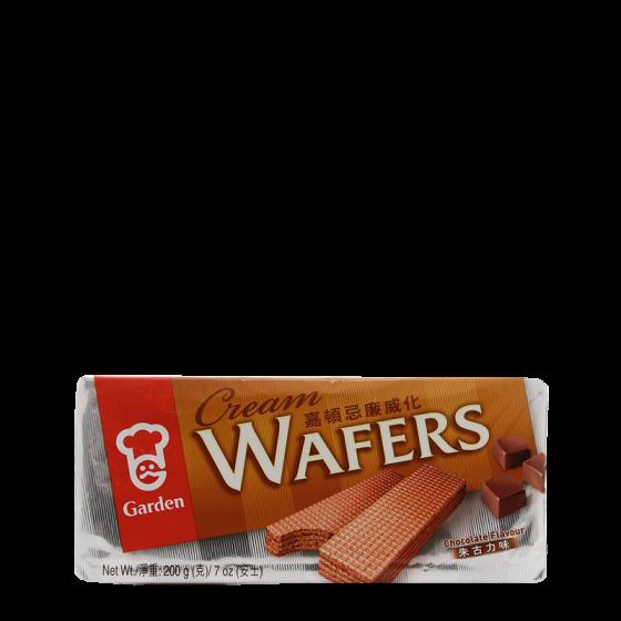 chocolate flav. wafers 200gr
