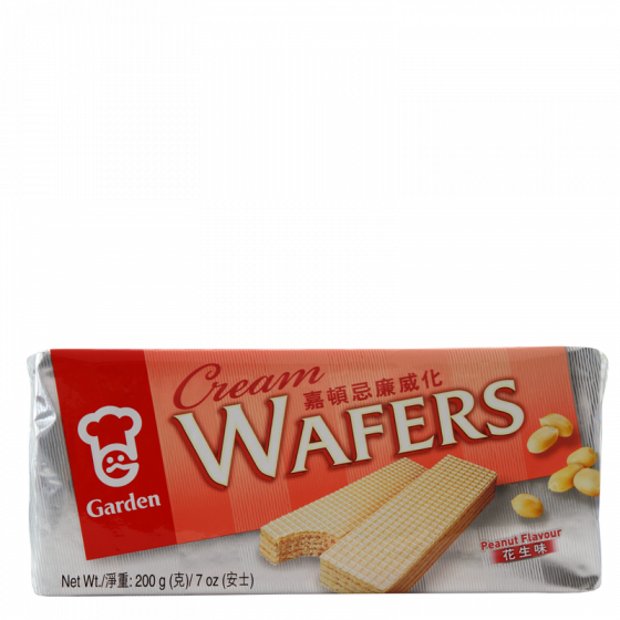 peanut flavoured wafers 200gr