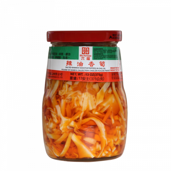 bamboo sh. in chilli oil 375gr