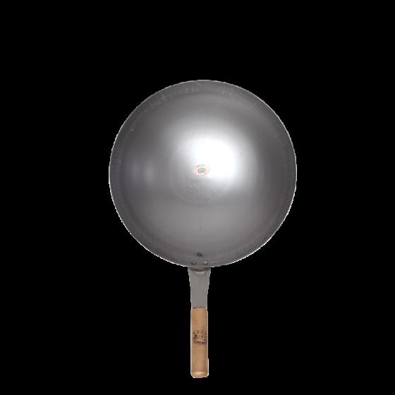 wok 12i w/wooden handle pcs