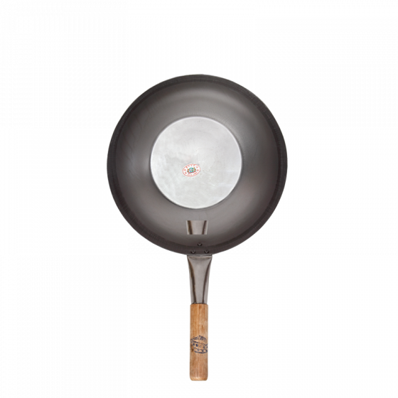 wok 12i wood.h'dle/flat pc