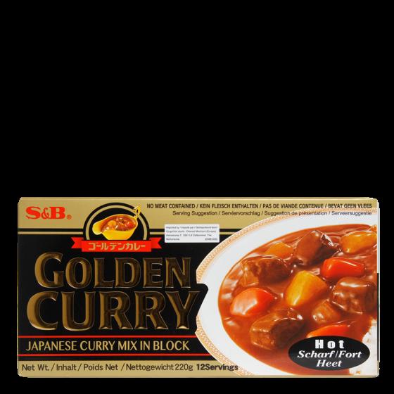 golden curry hot 220gr