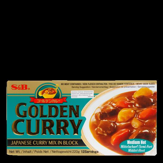 golden curry medium 220gr